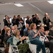 Audience enjoys presentation